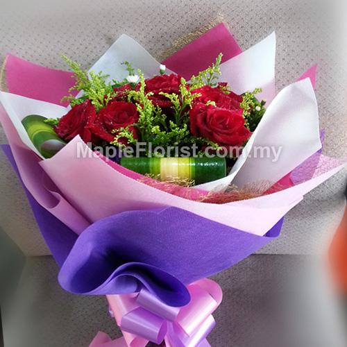 5 roses bouquet