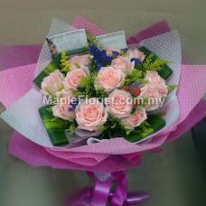 16 roses bouquet