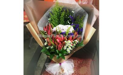 Hydrangea with leucadendron Bouquet