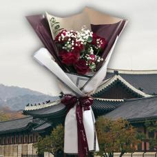 Korean Style Romantic Bouquet  (12 roses)