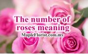 The number of roses meaning