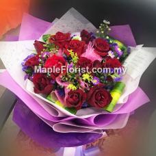 情人节玫瑰花束递送