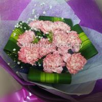 10 carnations bouquet