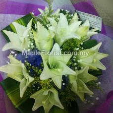 Valentines 10 lily bouquet