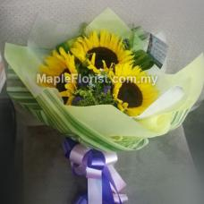 3 sun flowers bouquet (JB only)